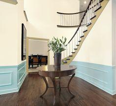 Color comparison - foyer. Pastel blue. www.PrestigePaints.com
