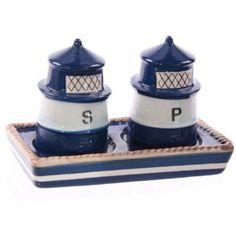 Ceramic Lighthouse Salt & Pepper Set: Amazon.co.uk: Kitchen & Home