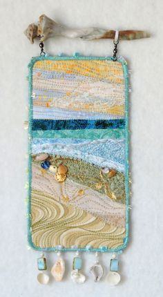 Beach Series # 129 by Eileen Williams Small Art Blanket available in the Etsy Shop . Beach series # 129 by Eileen Williams Small art blanket available in the etsy shop Artquiltsbyeilee Ocean Quilt, Beach Quilt, Small Quilts, Mini Quilts, Beach Themed Quilts, Fiber Art Quilts, Landscape Art Quilts, Collaborative Art, Quilted Wall Hangings