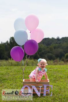 Greenville Newborn Photography | Russell Brinson Crate | Basket, Ballons | One Year Old www.russellbrinson.com