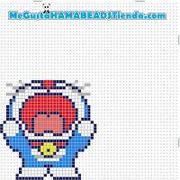 Doraemon  Hama mini/midi pattern - MeGustaHAMABEADS