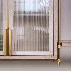 #detail of an upper #cabinet in our #new #collector's #shelving #kitchen. Cabinet with #ribbed #glas - adamkamens