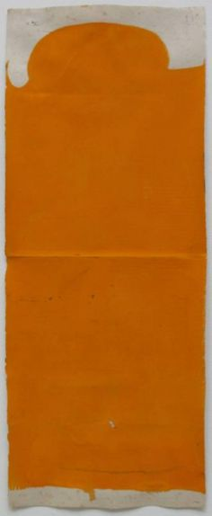 Suzan Frecon, vertical orange composition on small format 4, 2011