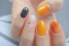 【動画あり】ADDICTIONでうるうるオレンジネイル | うめりのセルフネイル。