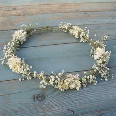 Pureza de Boho seca flor cabello corona por EnglishFlowerFarmer