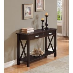 Waterloo Collection Dark Walnut Brown Console Table | Overstock.com Shopping - The Best Deals on Coffee, Sofa & End Tables