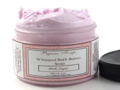 Pink Sugar Whipped Bath Butter Soap 4 oz - $8.50 - Handmade Crafts by Pegasus Soaps