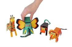 Jungle Animals Paper Toys - DIY Craft Kit - Paper Toy - Birthday Party Favor - PRINTABLE PDF