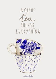 """""""A cup of tea solves everything"""" Los pájaros de Verónica Algaba"""