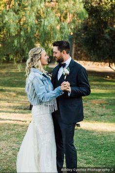 Denim jacket with fringe, wedding jacket inspiration