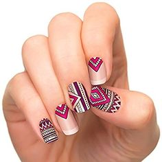 Incoco Nail Polish Strips, Nail Art, Tribal Queen (clear)