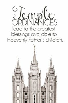 YW July Lesson Handout. Temple Ordinances. Power Point. Free printable