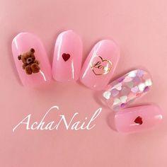#Summer Teddy Bear nails nailart
