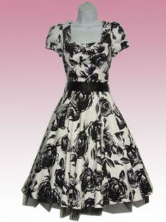My mom had a dress like this.  She was very fashionable.  Me - not so much!