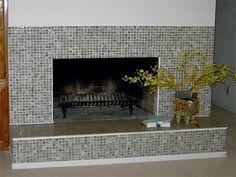 Fireplaces Ideas | Glass Fireplace Tile Ideas