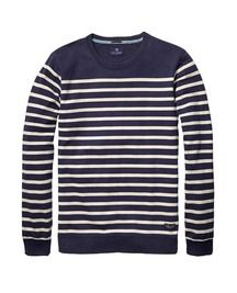 Authentic Striped Sweater > Mens Clothing > Sweaters at Scotch & Soda