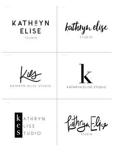 Kathryn Elise Studio Initial Logo Concepts — Branding by Hello Big Idea