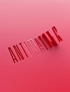 3d Type, New Scientist, Blake Griffin, Creative Review, Behance, Computer Art, Motion Design, Art Director, Industrial Design