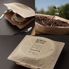 Creative eco-friendly packaging design as inspiration # colorful . - Creative eco-friendly packaging design as inspiration # colorful - Takeaway Packaging, Organic Packaging, Biodegradable Packaging, Seed Packaging, Food Packaging Design, Packaging Design Inspiration, Biodegradable Products, Paper Packaging, Clever Packaging