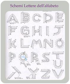 Schemi Alfabeto a uncinetto