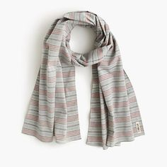 "This Brooklyn-based company, run by two brothers, is known for its workwear-inspired goods, which include classic scarves with prints and patterns that stand the test of time. Made in the USA, this one offers the perfect finishing touch to any polished look. <ul><li>70""L x 21""W.</li><li>Cotton.</li><li>Machine wash.</li><li>Made in the USA.</li><li>Online only.</li></ul>"