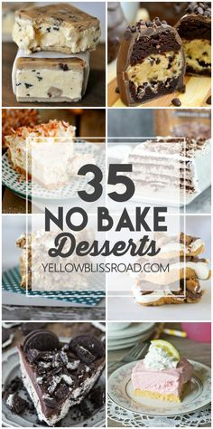 Sometimes you just want something sweet and homemade but it's just too hot to turn the oven on. Thankfully you won't have to after you check out this collection of 35 No Bake Desserts. You will find r (Homemade Baking Desserts)