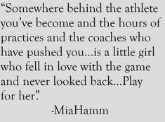 hamm soccer quotes inspirational~~ Someday when I'm getting Mary's senior sc.mia hamm soccer quotes inspirational~~ Someday when I'm getting Mary's senior sc. Sport Quotes, Girl Quotes, Me Quotes, Motivational Quotes, Inspirational Quotes, Uplifting Quotes, Nascar Quotes, Rugby Memes, Qoutes