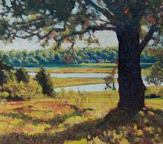 """Black Hall River View, Old Lyme,"" Jonathan Small, oil on linen mounted on panel, 10 x 11"", collection of the artist."