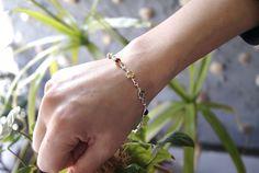Pulsera de plata con ambar multicolor Delicate, Bracelets, Jewelry, Silver Bracelets, Jewels, Jewlery, Bijoux, Schmuck, Jewerly