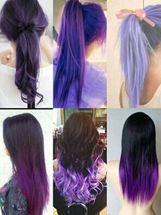 healthy living tips wellness programs for women Beautiful Hair Color, Cool Hair Color, Feathered Hairstyles, Pretty Hairstyles, Purple Hair, Ombre Hair, Vibrant Hair Colors, Cabello Hair, Fantasy Hair