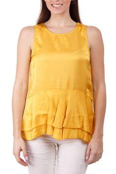 Deha / Different. Peplum, Tank Tops, Yellow, Women, Fashion, Moda, Halter Tops, Fashion Styles, Veil