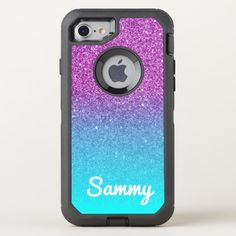 Shop Aqua Ombre Purple Glitter Personalized OtterBox iPhone Case created by annaleeblysse. Personalize it with photos & text or purchase as is! Create Your Own Case, Create Name, Cursive Fonts, Iphone Cases, Iphone 8, Text Design, Purple Glitter, Photo Backgrounds, Online Gifts