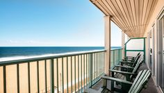 I can see myself sitting here with a morning coffee, watching the sunrise.  Days Inn Oceanfront Ocean City, MD #ocmd
