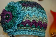 """CROCHET TODDLER GIRL BEANIE HAT,17""""-18"""",1 to 3 years+,,shelly500_0,WARM!!!"""