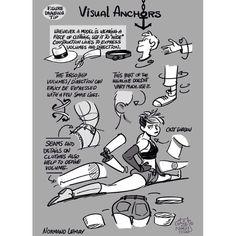 """Tuesday Tips - VISUAL ANCHORS #norm #grizandnorm #tuesdaytips #arttutorial #arttips #artistontumblr #artistoninstagram #visualanchor #drawingtips"""