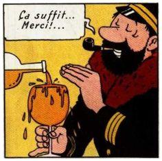 Captain Haddock y su debilidad Comics Und Cartoons, Bd Comics, Funny Comics, Haddock Tintin, Glee, Tin Tin Cartoon, Captain Haddock, Herge Tintin, Bd Art