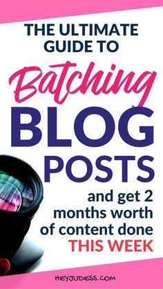 Batching Blog Posts like a rockstar   #heyjudess #bloggingforbeginners #bloggingtips #bloggingfornewbies #productivitytips