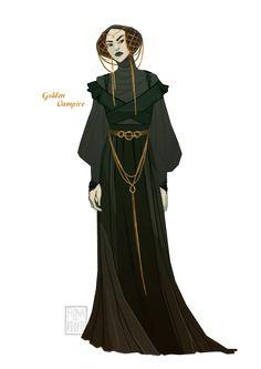 [closed] Adopt - Golden Vampire by fionadoesadopts on DeviantArt Fantasy Character Design, Character Creation, Character Design Inspiration, Character Concept, Character Art, Concept Art, Fantasy Characters, Female Characters, Fantasy Costumes