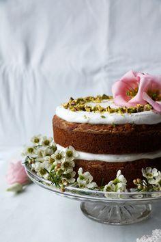 Cardamom Pistachio Carrot Cake