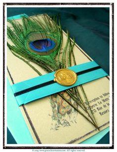 wedding invitation - peacock theme @Nicole Novembrino Irish