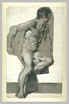 Study of a nude - Pietro Faccini