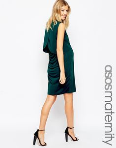 ASOS+Maternity+NURSING+Dress+With+Drape+Back+And+Double+Layer