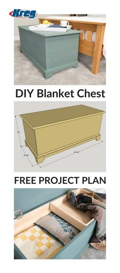 DIY Classic Blanket Chest End of bed in master wood projects projects diy projects for beginners projects ideas projects plans Wood Projects For Beginners, Beginner Woodworking Projects, Custom Woodworking, Diy Wood Projects, Woodworking Plans, Woodworking Classes, Woodworking Basics, Workbench Plans, Popular Woodworking