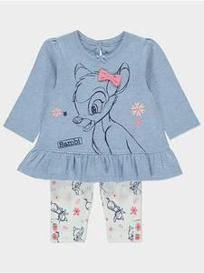 Disney Baby Bambi Top and Leggings Outfit Set USA - Character Outlet - Baby Clothes! Disney Baby Clothes Girl, Hippie Baby Clothes, Baby Clothes Online, Trendy Baby Clothes, Disney Baby Outfits, Junior Clothes, Disney Dresses, Legging Outfits, Outfits Niños