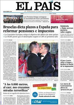 Los Titulares y Portadas de Noticias Destacadas Españolas del 30 de Mayo de 2013 del Diario El País ¿Que le parecio esta Portada de este Diario Español?