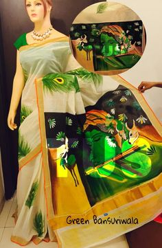 Hand painted kerala cotton