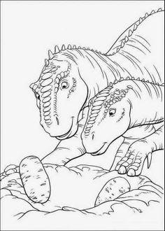 33 beste afbeeldingen van Dino's kleurplaten en prints in