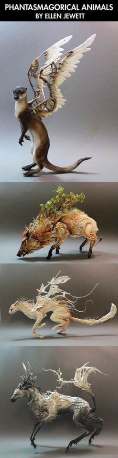 Amazing animal sculpture art (I don't know who made them but WOW!)