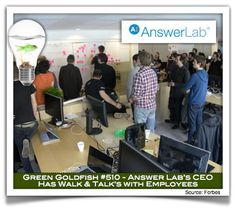 AnswerLab's(#510) CEO schedules Walk & Talks with every employee. These one-on-onecheck-ins provide employees with an individual opportunity to share any concerns or brilliant ideas theyhave with the CEO directly.Combining wellness with one-on-ones helps achieve two important objectivessimultaneously. Meeting outside the office and getting physical helps eliminate the nerves andintimidation employees might normally experience when connecting with higher-ups.