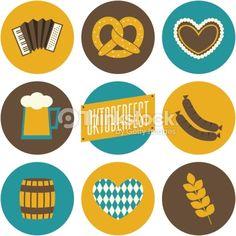 Oktoberfest Icons Collection : Vektorgrafik